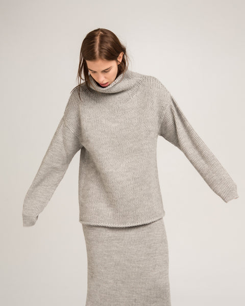Funnel Neck Alpaca Sweater - Founders & Followers - Micaela Greg - 7