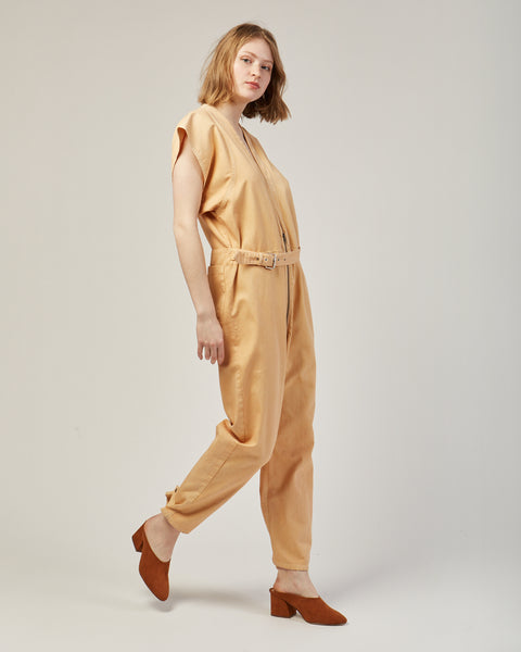 Level jumpsuit in sand