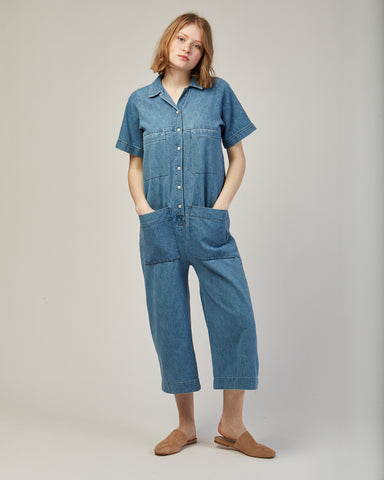 Mabel coverall in denim