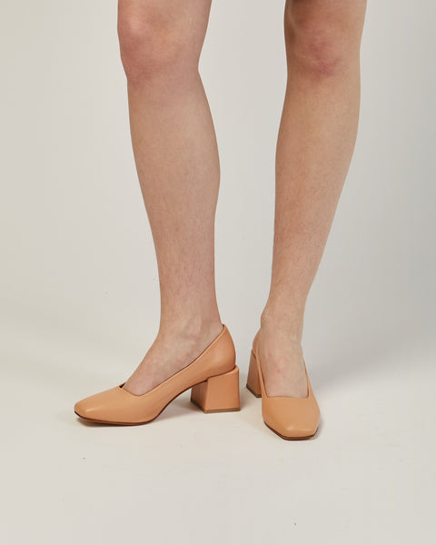 Villa leather pump in nude
