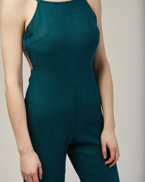 Simba jumpsuit in dark green