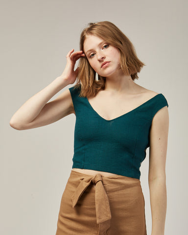 Tabule top in dark green