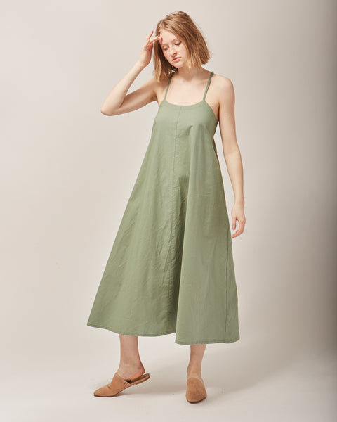Loop dress in moss