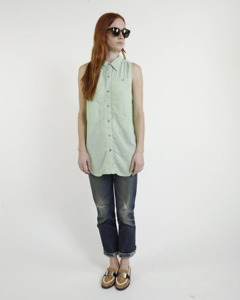 Oscar Silk Workshirt in Mint - Founders & Followers - LF Markey - 6