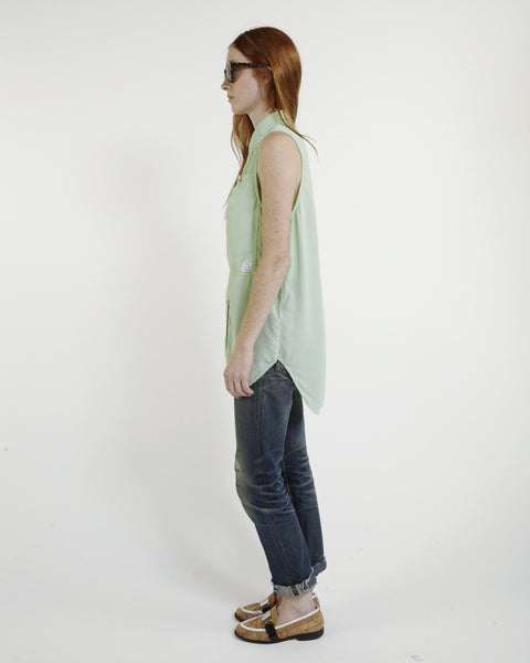 Oscar Silk Workshirt in Mint - Founders & Followers - LF Markey - 4
