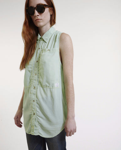 Oscar Silk Workshirt in Mint - Founders & Followers - LF Markey - 1