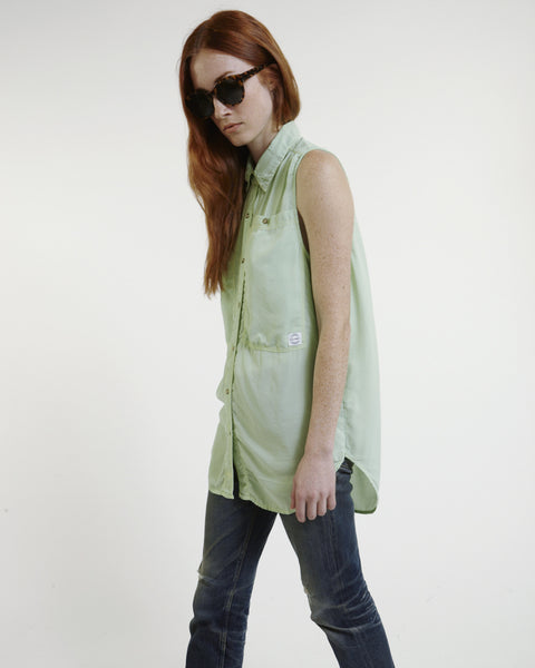 Oscar Silk Workshirt in Mint - Founders & Followers - LF Markey - 7