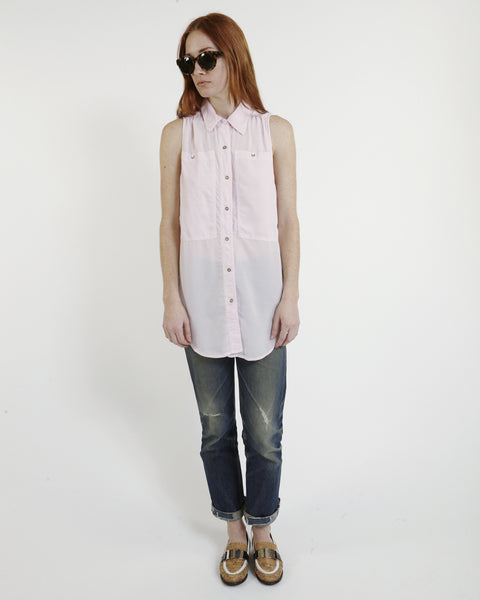 Oscar Silk Workshirt in Pink - Founders & Followers - LF Markey - 5