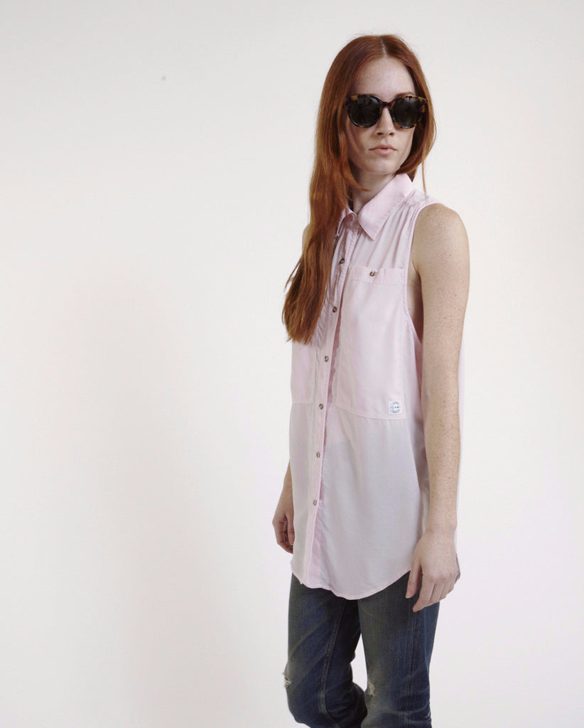 Oscar Silk Workshirt in Pink - Founders & Followers - LF Markey - 1