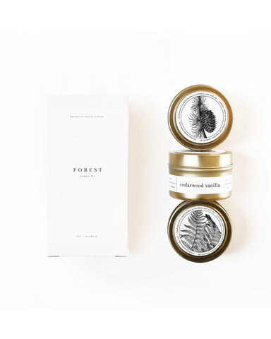 Forest gold travel candle set - Founders & Followers - Brooklyn Candle Studio - 1