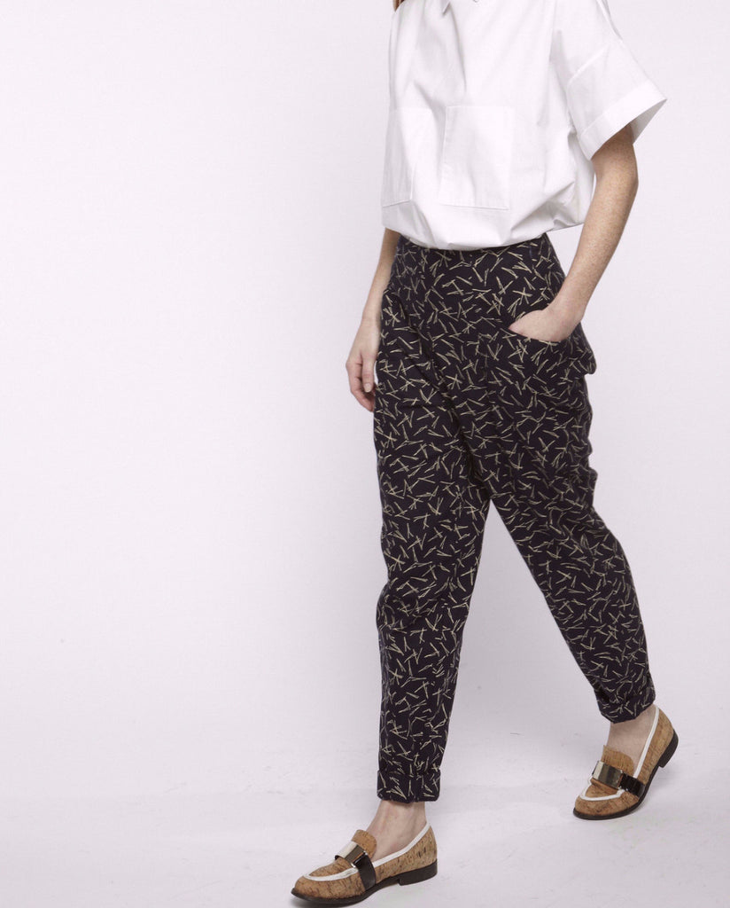 Printed Hip Pockets Pants - Founders & Followers - Suzanne Rae - 1
