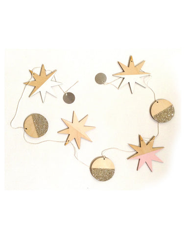 Stars and Full Moons Large Garland - F&F Exclusive - Founders & Followers - The Great Lakes Goods - 1