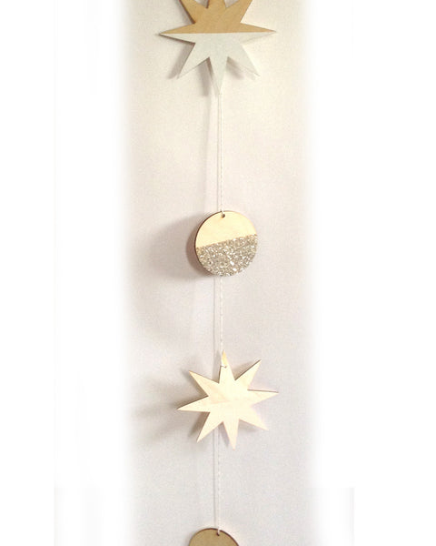 Stars and Full Moons Large Garland - F&F Exclusive - Founders & Followers - The Great Lakes Goods - 3