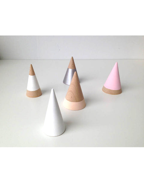 Painted Wooden Cones - Founders & Followers - The Great Lakes Goods - 2