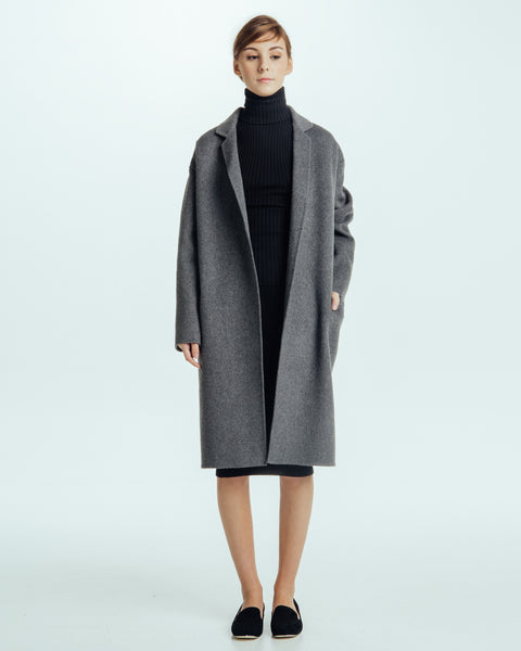 Handmade Long Coat in Grey - Founders & Followers - Achro - 2