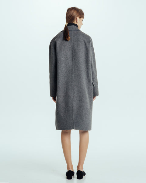 Handmade Long Coat in Grey - Founders & Followers - Achro - 3