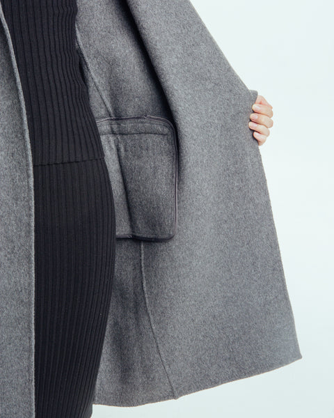 Handmade Long Coat in Grey - Founders & Followers - Achro - 4