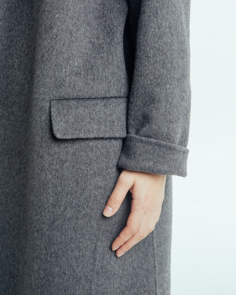 Handmade Long Coat in Grey - Founders & Followers - Achro - 5