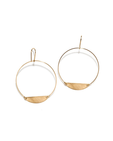 Hoop with half Oval Earrings - Founders & Followers - By Boe