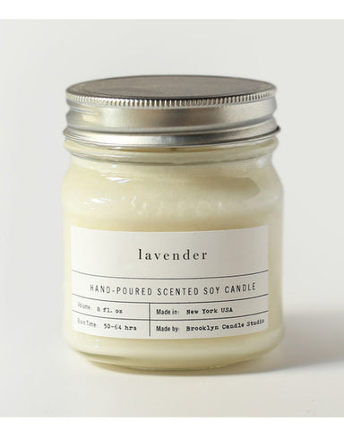 Lavender Mason jar Candle - Founders & Followers - Brooklyn Candle Studio - 1