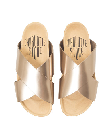 Luke Sandal in Metallic Twilight - Founders & Followers - Charlotte Stone - 1