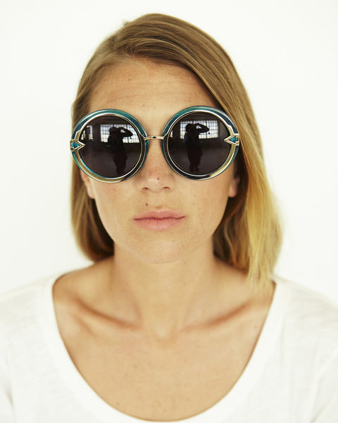 Orbit in Crystal Turquoise - Founders & Followers - Karen Walker - 4