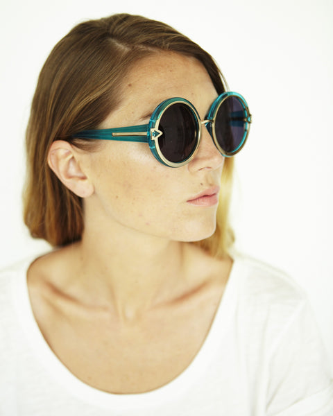Orbit in Crystal Turquoise - Founders & Followers - Karen Walker - 5
