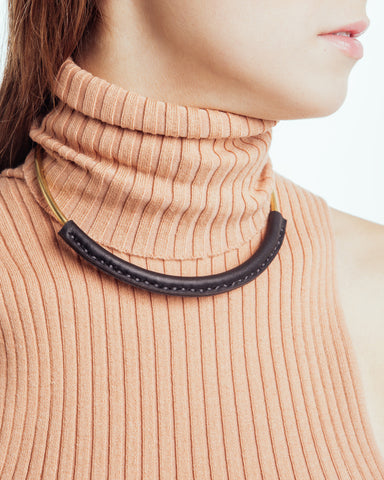 Kiva Necklace in Black - Founders & Followers - Crescioni - 1