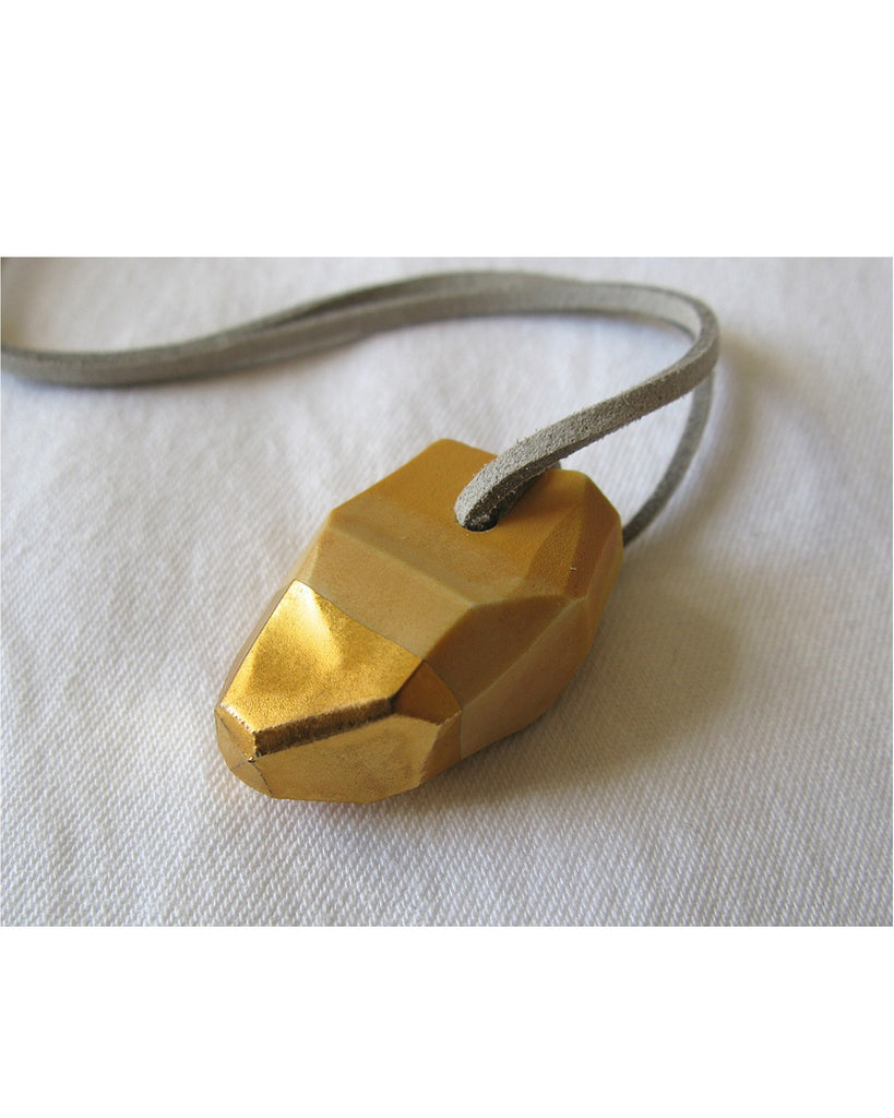 Porcelain Nugget Necklace in Ochre - Founders & Followers - Signe Yberg - 1