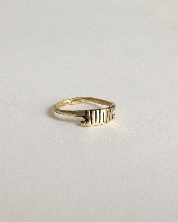 Byzantium ring in brass - Founders & Followers - Open House