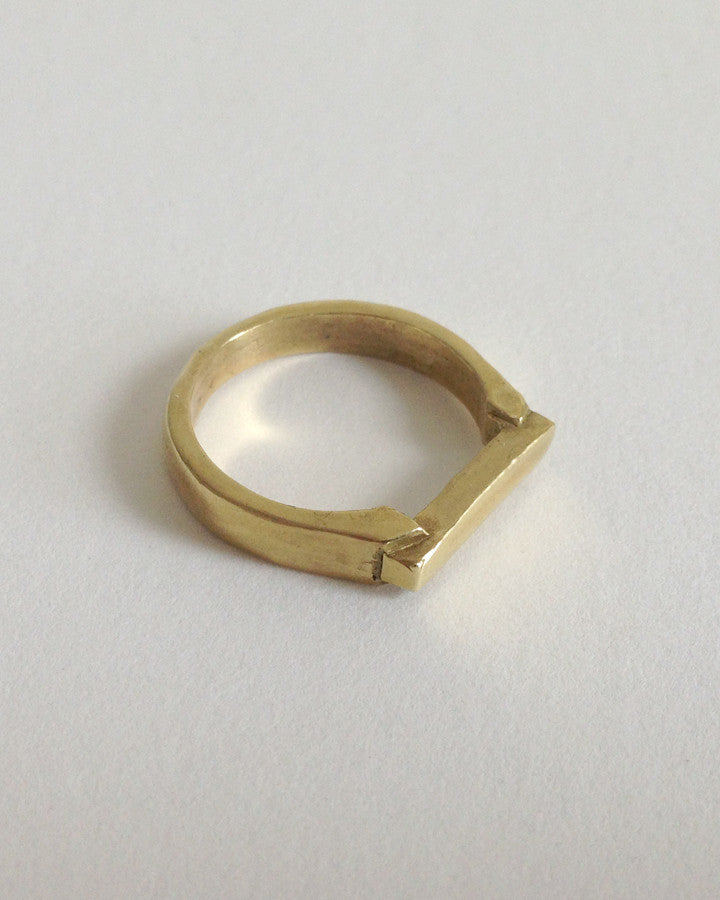 Ingot ring in brass - Founders & Followers - Open House