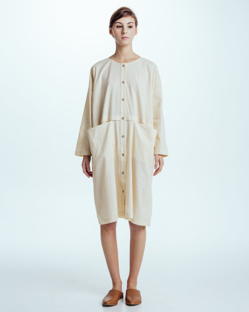 Raincoat Dress in Cream - Founders & Followers - Revisited Matters - 1
