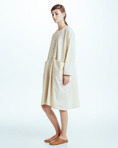 Raincoat Dress in Cream - Founders & Followers - Revisited Matters - 2