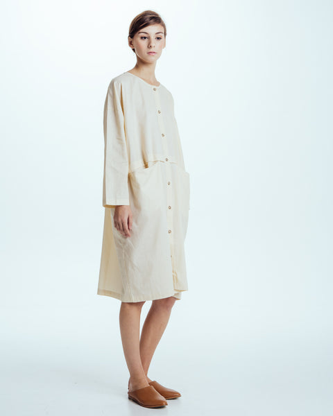 Raincoat Dress in Cream - Founders & Followers - Revisited Matters - 3
