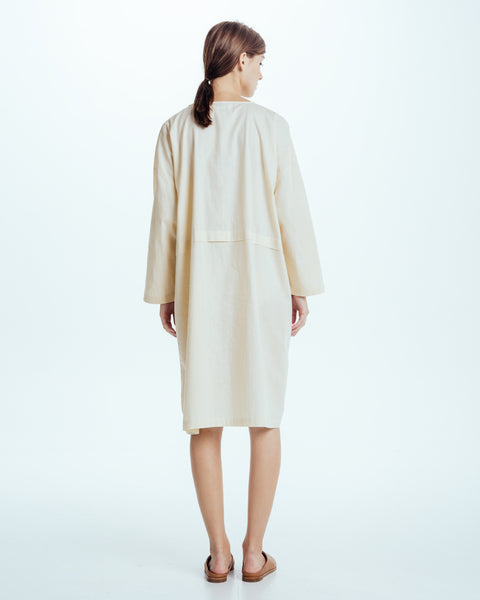 Raincoat Dress in Cream - Founders & Followers - Revisited Matters - 4