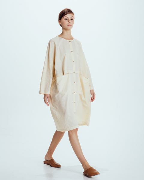 Raincoat Dress in Cream - Founders & Followers - Revisited Matters - 5