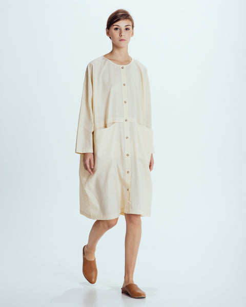 Raincoat Dress in Cream - Founders & Followers - Revisited Matters - 6