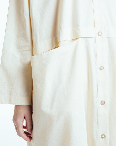 Raincoat Dress in Cream - Founders & Followers - Revisited Matters - 7