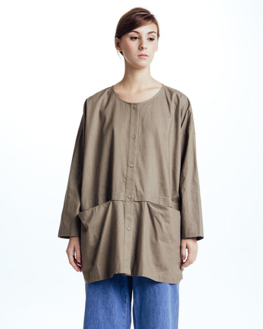 Cropped raincoat top in Forest - Founders & Followers - Revisited Matters - 1