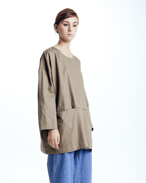 Cropped raincoat top in Forest - Founders & Followers - Revisited Matters - 2