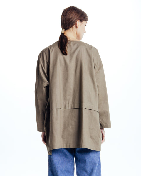 Cropped raincoat top in Forest - Founders & Followers - Revisited Matters - 3