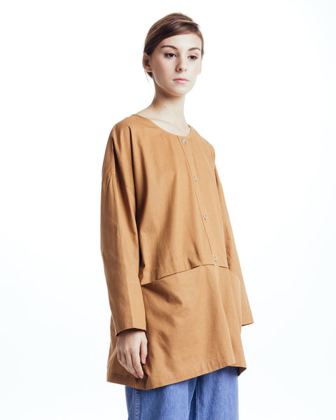 Cropped raincoat top in Clay - Founders & Followers - Revisited Matters - 2