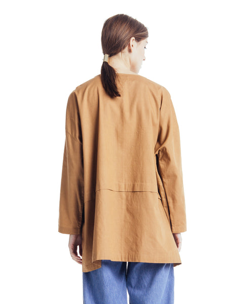 Cropped raincoat top in Clay - Founders & Followers - Revisited Matters - 3