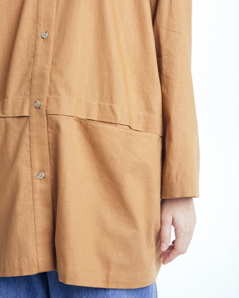 Cropped raincoat top in Clay - Founders & Followers - Revisited Matters - 4