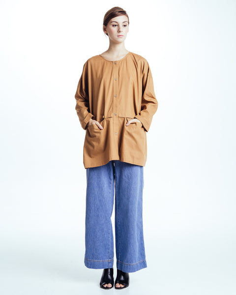 Cropped raincoat top in Clay - Founders & Followers - Revisited Matters - 5