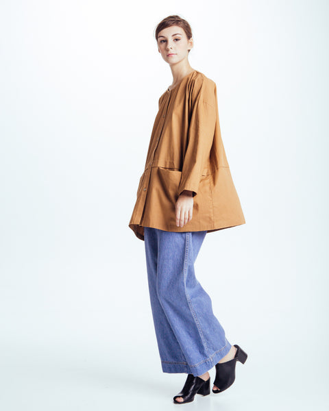 Cropped raincoat top in Clay - Founders & Followers - Revisited Matters - 6