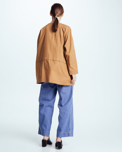 Cropped raincoat top in Clay - Founders & Followers - Revisited Matters - 7