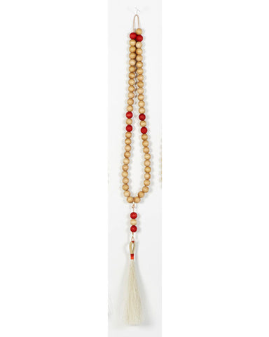 Worry Beads in White and Red - Founders & Followers - Fredericks & Mae - 1