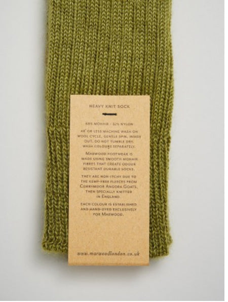 Heavy Knit Mohair Socks in Sea Green