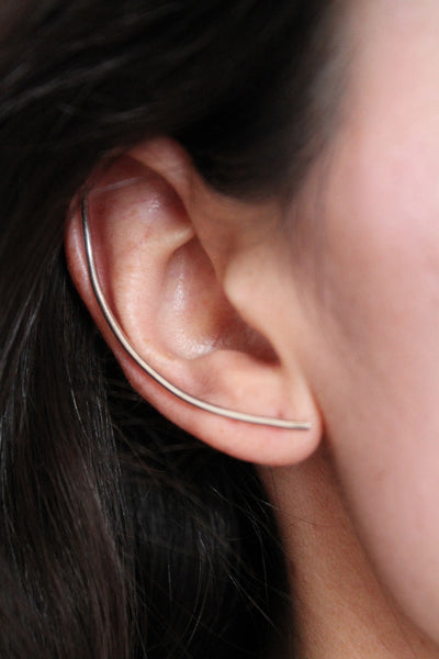Silver XL Bar Earring - Founders & Followers - Lumo - 1